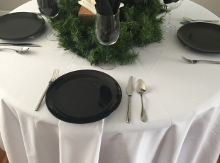 Banquet Table - Round/White