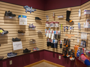 Selection of footwear and orthotics