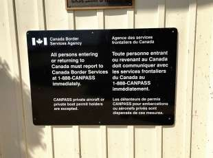 Immigration signage